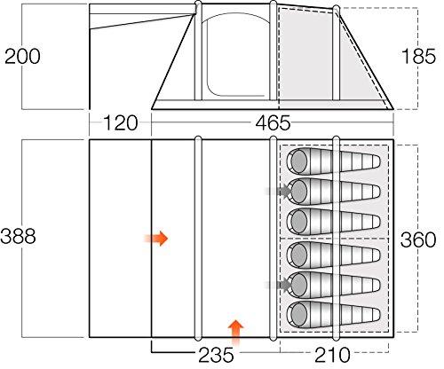 Vango Odyssey Air Aufblasbares Zelt, Epsom Green, 600SC - 2