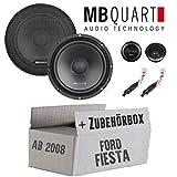 Lautsprecher Boxen MB Quart QS165-16cm Kompo Auto Einbauzuebehör - Einbauset für Ford Fiesta MK7 Front Heck - JUST SOUND best choice for caraudio