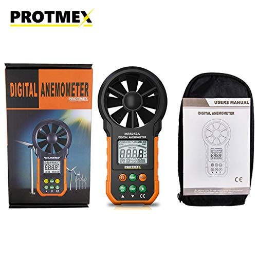 6252A Portable Digital Anemometer Meter Windgeschwindigkeit Test Wind Durchflussmessgerät Hohe Genauigkeit Volumen Messen Tester