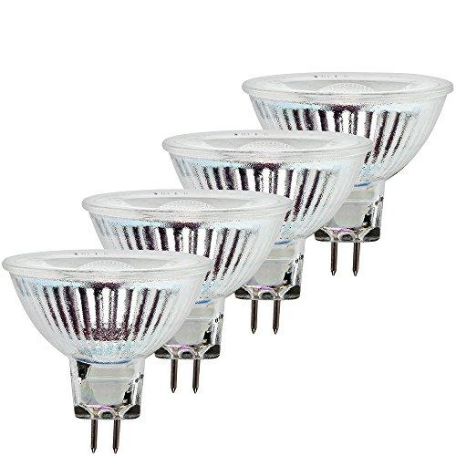 Müller-Licht 400283 _ A +, set 4 Il Rétro Lampe réflecteur LED équivalent 31 W, verre, 6 watts, GU5.3, argent, 5 x 5 x 4,6 cm