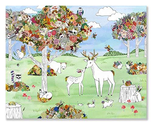 Oopsy Daisy Fine Art für Kinder Botanic Forest Leinwand Art Wand von Katie Vernon, 30 x 24 Butterfly Meadow Bunny