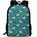 best& Unicorns In Flower Field School Backpack Bookbag for College Travel Hiking Fit Laptop Water Resistant