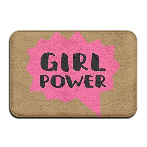"""suzhouxiu Girl Power Non-Slip Indoor/Outdoor Floor Mat For Health and Wellness Kitchen Bathroom Doormat 23.6""""x 15.7"""""""