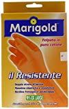 Marigold 145683 Guanto Il Resistente, massima elasticità e resistenza, doppio strato di lattice, felpato in puro cotone, manica lunga e bordino frenagocce antistrappo