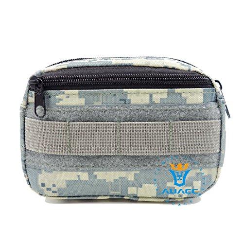 Multifunktions Survival Gear Tactical Beutel MOLLE POUCH Military Field Kleinteile Bag, Outdoor Camping Tragbare Travel Bags Handtaschen Werkzeug Taschen Waist Bag Handy Pouch ACU