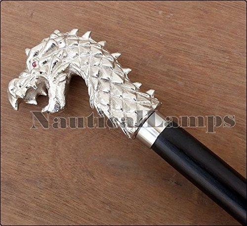 Safa - Bastón Madera diseño Cabeza dragón, Estilo