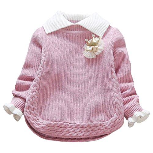 Zhuhaitf Kids Baby Mädchen Cute Knitted Sweaters School Jumper Sweatshirt Ages 1-5