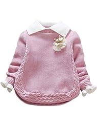 Zhuhaitf Kids Baby Fille Cute Knitted Sweaters School Jumper Sweatshirt Ages 1-5