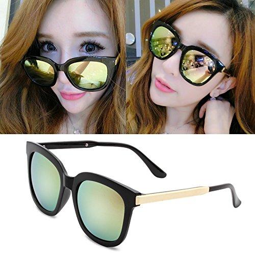 sonnenbrille, meine damen, popstars, brille, neue runde, personalisierte sonnenbrille, frauen - runde gesicht, die koreanischen männer augen,helle schwarzpulver film (bag)