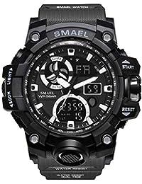 SMAEL Reloj De Cuarzo Cronógrafo para Hombres Reloj Inteligente- Keng 1545C Reloj Electrónico con Doble