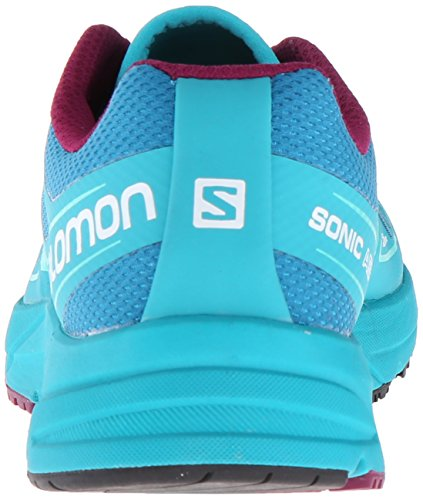 Salomon L38155800, Sneakers trail-running femme fog blue-teal blue-mystic purple