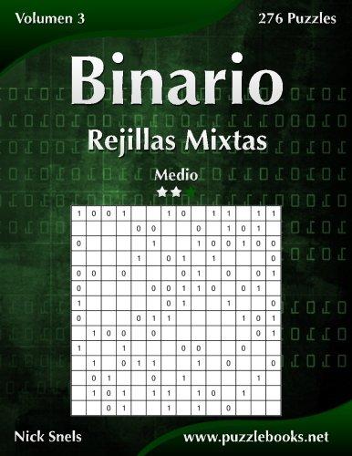 Binario Rejillas Mixtas - Medio - Volumen 3-276 Puzzles: Volume 3