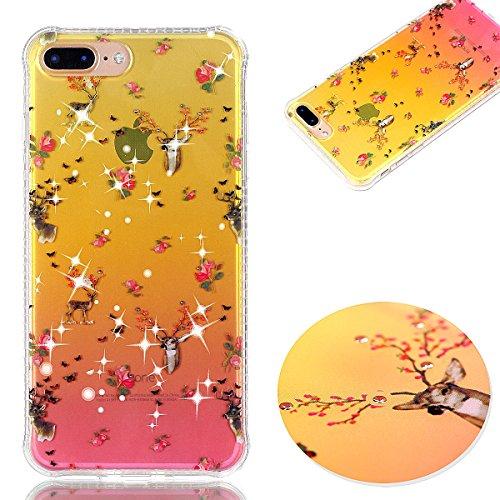 ZeWoo TPU Coque - - pour Apple iPhone 7 Plus (5,5 pouces) Silicone Étui Housse Protecteur--YT06 fleurs YT03