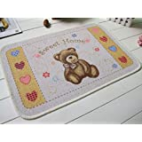 Los niños Alfombras de osos TGLOE dormitorio alfombra bonita y baño casa antideslizante respaldo de alfombras para niños