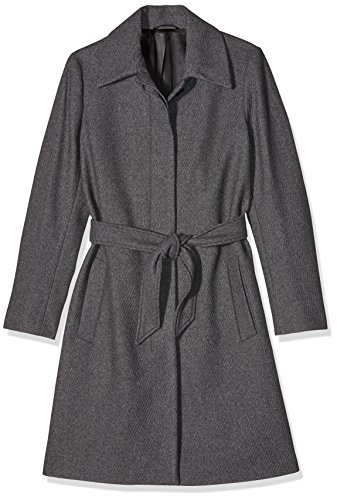 Filippa K Damen Mantel, Iza Wool Belt Coat , Gr. 38 (Herstellergröße: Medium), Grau (Grey Mel)
