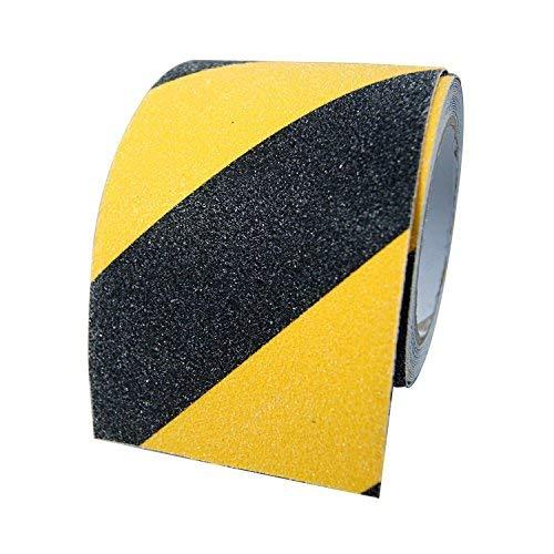 BigTron 10cm x 5m Stark Rutschfeste Tapes Warnklebeband Anti-Rutsch-Klebeband f¨¹r Innen und Au?enbereich(Schwarz und Gelb) Rutschfestes