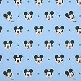 Unbekannt Dekostoff Cretonne Micky Maus – hellblau —