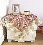 FaceToWind Tischdecke Spitze Seite Staub Tuch Nachttisch Kühlschrank Gerät Top Staubschutz Tuch rot Drucken, 125x125cm