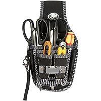 Seasofbeauty Bolsa de Herramientas con Cinturón Ajustable de Nylon Multifuncional Negro