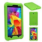 Techgear Schutzhülle für Samsung Galaxy Tab 3 17,78 cm (SM-T210/SM-T211/SM-T215) Robuste Schutzhülle mit Anti-Stoß Heavy Duty zusätzliche Corner & Kantenschutz und Easy Grip Design Galaxy Tab 4 7.0 grün
