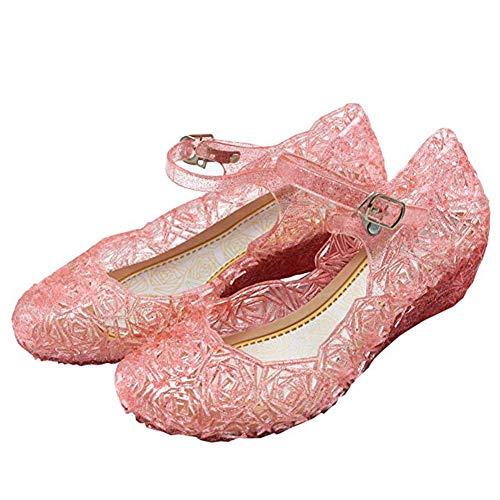 CQDY Mädchen ELSA Schuhe Prinzessin Verkleiden Sich Mädchen Phantasie Prinzessin Schuhe für Halloween Cosplay Party Geburtstag