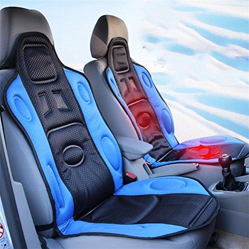 RUIRUI Beheizbare Sitzauflage Auto Heizkissen, 12 / 24V Universal Sitzkissen , blue , 12V