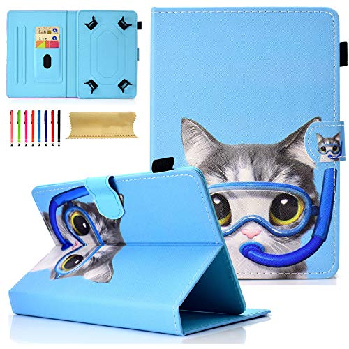 Universal Tablet-Schutzhülle mit Standfunktion für Amazon, Samsung, GoTab, RCA 05 Dive Cat for 7-8 inch Tablet - Tablet Case 8 Zoll-rca