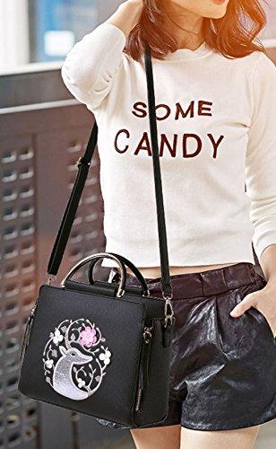 Maibaoma Pu New Fashion Da Donna Borse, Hobo Bags, Tracolle, Borsette, Secchiello, Trend Bags, Velour, Camoscio, Pelle Scamosciata, Borsa Nera