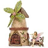 Patio Eden - Juego de hadas Garden House - Kit miniatura pintado a mano - Accesorios de jardín