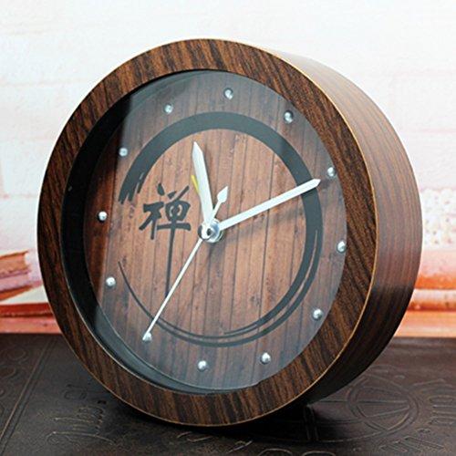 Nostálgico jardín chino estilo madera Zen despertador