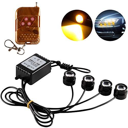 """Luci LED /""""Eagle Eye/"""" ad alta potenza adatte come luci di retromarcia da 3/W con vite luci LED di marcia diurna per auto e moto luci di posizione"""