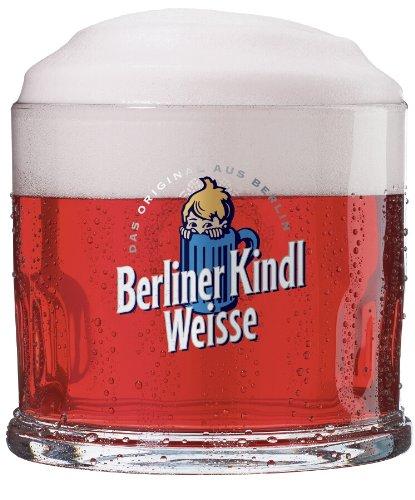 Sahm - Set da 4 boccali da birra Berliner Kindl Weisse, 0,3 l