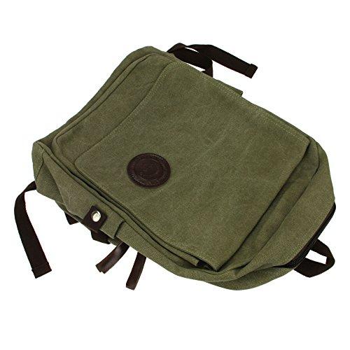 Liying Neu Vintage Canvas Rucksack Schulrucksake Backpack Rucksack Laptop für Studenten für Reisen Computer Outdoor Camping Picknick Sports Schultasche 40cm*18cm*28cm Braun Braun