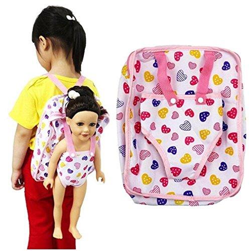 YUYOUG Puppen Kleidung Baby Doll Carrier Rucksack Doll Zubehör - Lagerung für Puppenkleider und Zubehör - Passt 15 bis 18 Zoll - 18 Alexander Puppe Madame