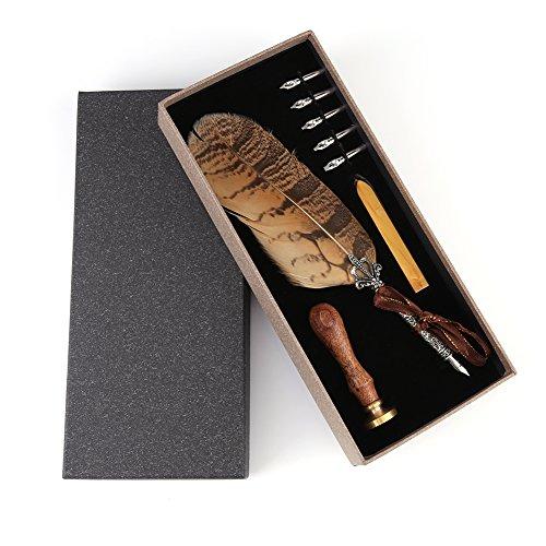 Semme Quill de Muelle de lápiz, cómodo Touch Exquisita diseño Estilo Antiguo Menos...