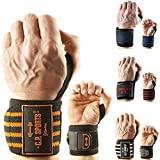 Strongman-Handgelenkbandagen 50cm T20-1 – Power Hardcore Wrist Wraps - C.P.Sports Bandagen für Bodybuilding + Fitness