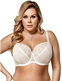 b8afe8b9cf Gorsenia K425 Women s Casablanca Cream Non-Padded Underwired Support  Coverage Full Cup Bra