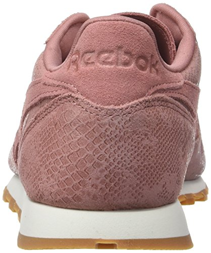 Reebok Damen Classic Leather Clean Exotics Gymnastikschuhe Pink (Sandy Rose/chalk/gum)