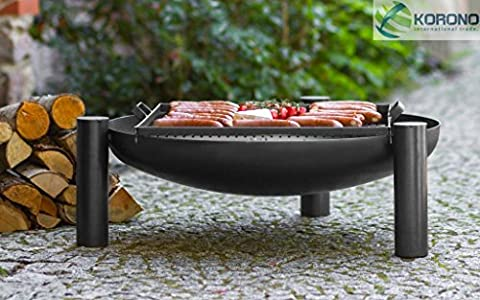 Fire Bowl with Hole, incl. Grill, 30 cm height