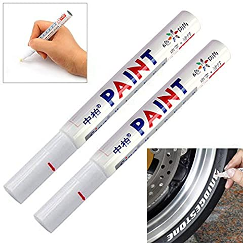 Permanent Chalk Marker Watherproof Oil Based Rubber Glass Plastic Cardboard Pens White