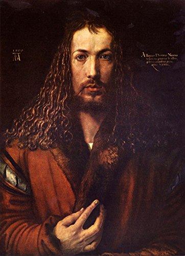 Das Museum Outlet-Self Portrait 2von Dürer, gespannte Leinwand Galerie verpackt. 29,7x 41,9cm -