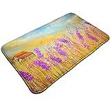 BagsPillow Lavender Oil Painting Decorative Doormat Non Slip Front Door Mat Indoor Outdoor Entrance Rug Floor Mats Carpet Home Doormat