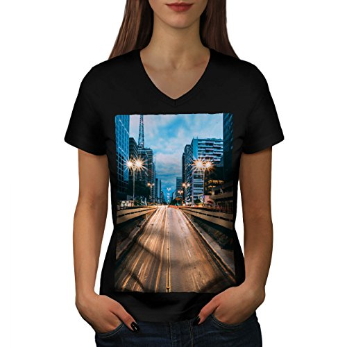 stadt-strasse-beleuchtung-stadt-damen-neu-schwarz-m-t-shirt-wellcoda
