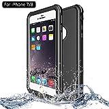 NewTsie iPhone 7 / iPhone 8 Wasserdicht Stoßfest Hülle, IP68 Zertifiziert Schutzhülle Staubdicht mit Eingebautem Displayschutzfolie für Apple iPhone 7/8 4.7 inch (P-Schwarz)