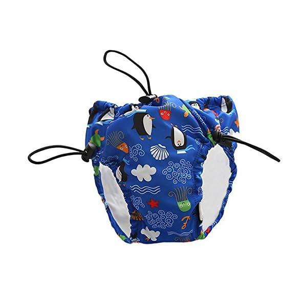 Docooler Pañales de natación con Cordones Ajustables Impermeables a Prueba de Fugas Reutilizables natación Pantalones de… 1