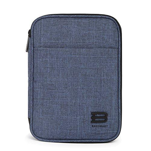 bagsmart Elektronik Tasche, Doppelte Schichte Elektronische Tasche Reise für iPad Mini, Kabel, Ladegerät,Adapter, Powerbank, USB-Sticks, SD Karten, Blau -