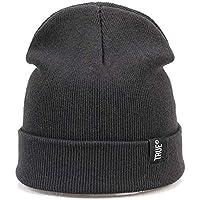 BLACK ELL Letter True Casual Lady Hat, Sombrero de Hombre de Invierno Sra. Skullies con Capucha Knit Simple Warm Soft Cap Outdo, 3