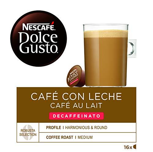 Nescafé Dolce Gusto Café con leche descafeinado - 16 Cápsulas de Café