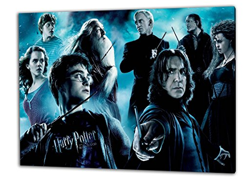 Harry Potter, Format: 100x70 Leinwandbild auf Holzrahmen gespannt, Leinwandbild, 1A Qualität zu 100% Made in Germany! Kein Poster Kein Plakat! Echtholzrahmen mit beigelieferten Zackenaufhängern. Fertig bespannt, Sofort dekorieren. Vier verschiedene Formate.