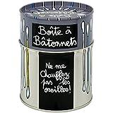 Boîte / Pot À Bâtonnets Cotons Tiges CHAUFFEZ En Métal Gris - Dlp Derrière La Porte